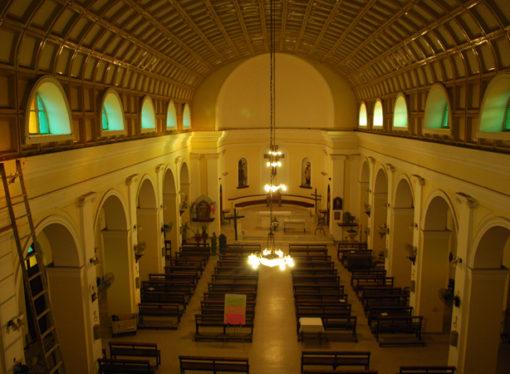 En el nombre del padre: comenzaron la remodelación de la Iglesia
