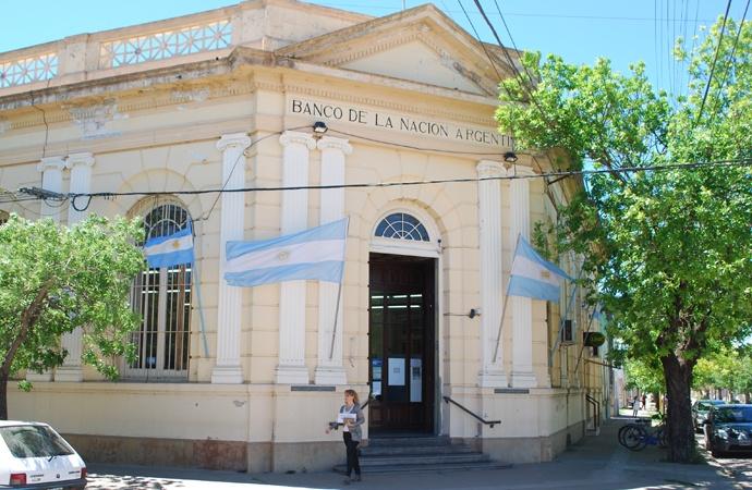 El paro nacional paraliza la actividad bancaria en Sastre