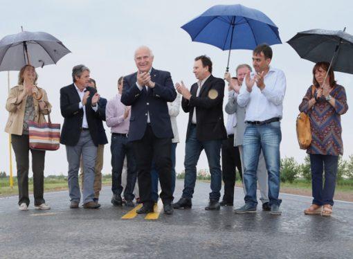 Lifschitz inauguró la repavimentación de la ruta 66