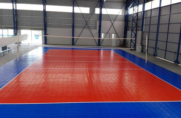 Regalo de campeones: Atlético Sastre estrena nuevo piso de voley