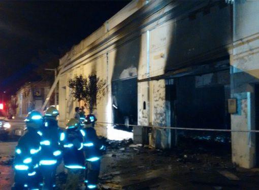 Se incendió una fábrica de alimentos en María Juana