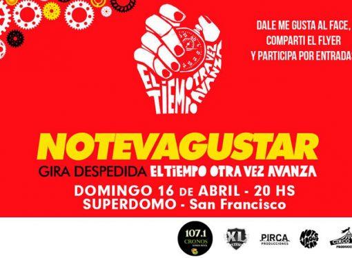 Radio Cronos y bumerangnews regalan entradas para el show de No Te Va Gustar