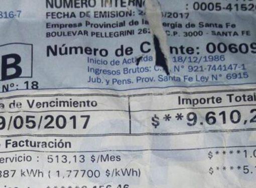 El norte de la provincia en estado de shock por la llegada de las boletas de luz