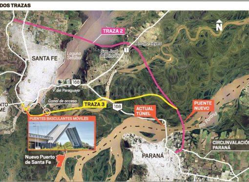 Se acercan definiciones para la traza del puente Santa Fe-Paraná