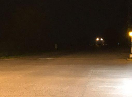 El Senado presiona para que Provincia ilumine el ingreso a Sastre sobre ruta 64