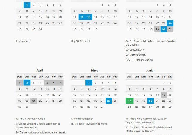 Cuenta regresiva para saber si 2018 tendrá feriados puente