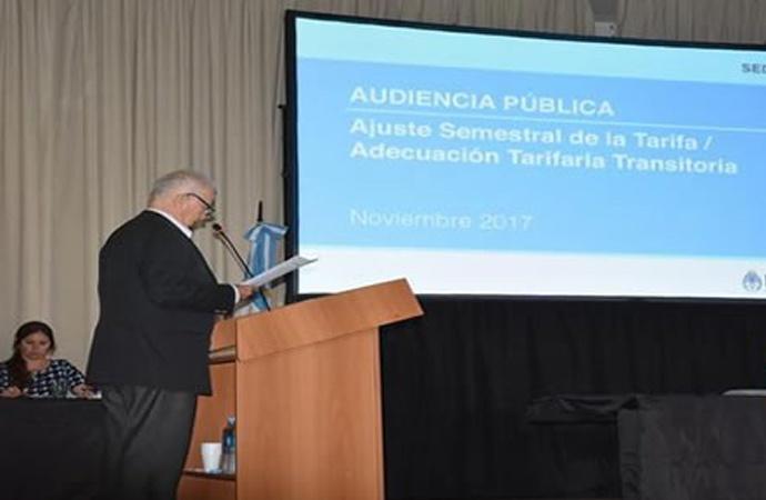 Lamberto participó de la Audiencia Pública para evaluar la tarifa del gas