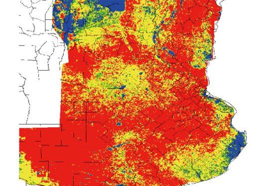 Los suelos al rojo vivio y sin perspectivas de precipitaciones