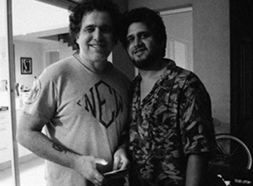 Andrés Calamaro graba con Maxi Prietto de Los Espíritus