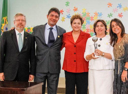Una psicopedagoga de Sastre fue distinguida por Dilma Rousseff