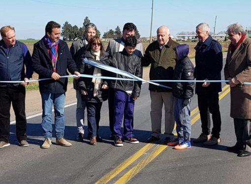 Con la presencia de Lifschitz, se inauguró la repavimentación de la ruta 13