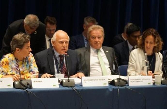 Lifschitz asumió en EEUU la co-presidencia para Latinoamérica de la Coalición Under2