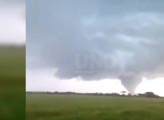 Una cola de tornado asustó a vecinos del norte provincial