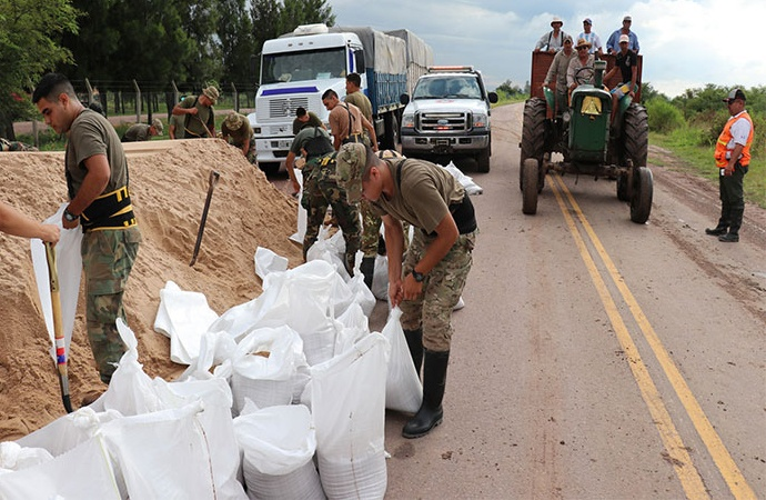 Se elevan a 83 las personas evacuadas por la provincia en el departamento 9 de Julio