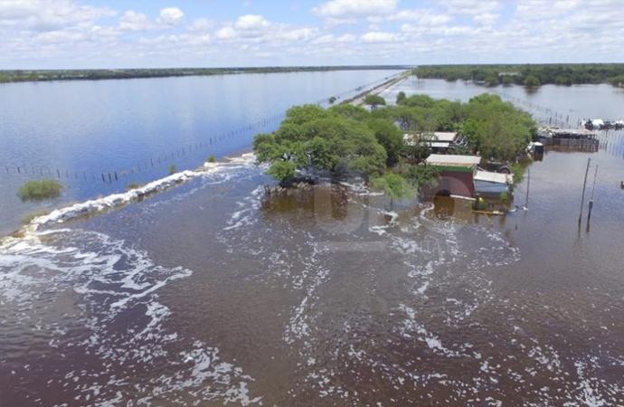 """El norte bajo agua:""""Se perdió la totalidad de los cultivos de soja, girasol y algodón"""""""