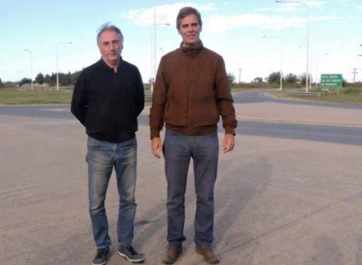 Seghezzo visitó El Trébol y volvió a anunciar cambios en la rotonda de ruta 13
