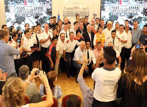 Sunchales: Reconocimiento de Lifschitz a Bomberos Voluntarios