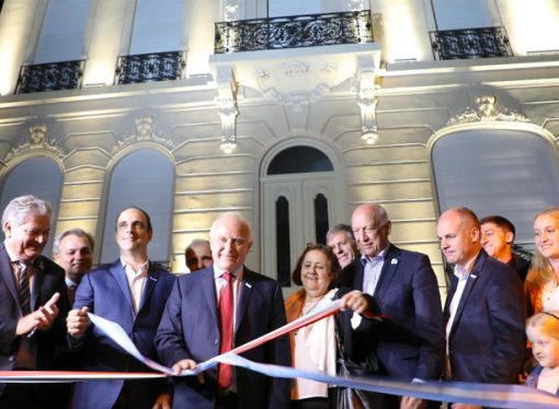 Bonfatti participó de la inauguración de la Casa de la Cultura de Santa Fe