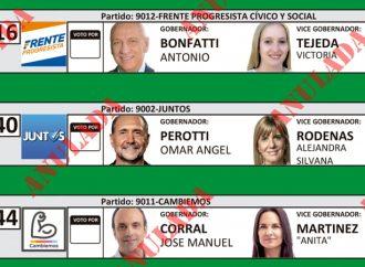 Ya se pueden ver en la web las boletas que se usaran en las elecciones generales