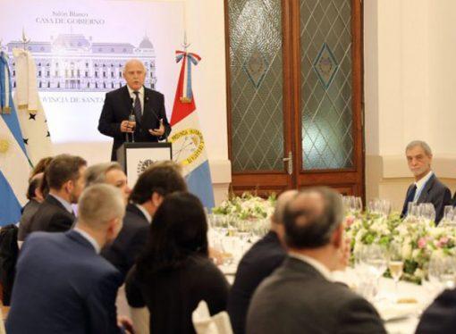 Lifschitz brindó una recepción en honor a los señores ministros de los Estados Partes