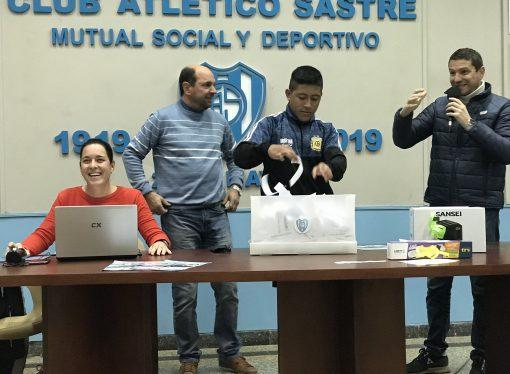 Atlético Sastre sorteó los premios de pago de contado de su bingo
