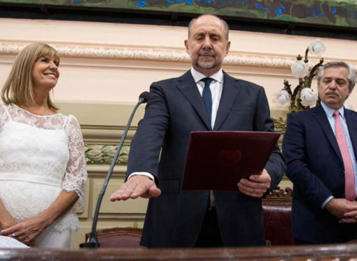 Perotti juró como gobernador con fuertes críticas a las administraciones socialistas