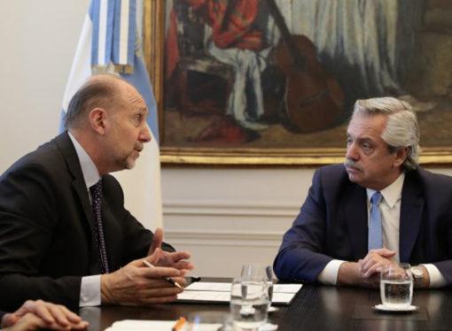 """En Casa Rosada, Perotti dijo tener """"expectativa"""" por el pago de la deuda por coparticipación"""
