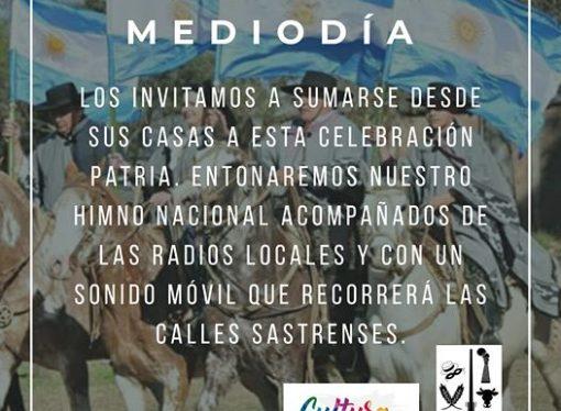 25 de mayo en cuarentena: cómo se festeja en Sastre