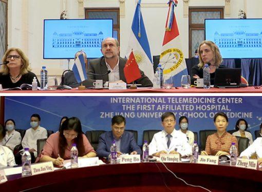 Contacto de autoridades provinciales con expertos de salud de China