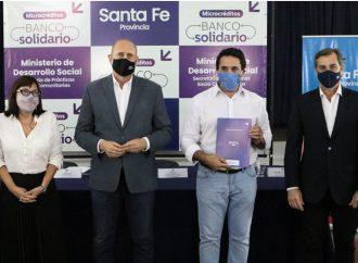 Presentan el programa Banco Solidario para emprendedores santafesinos